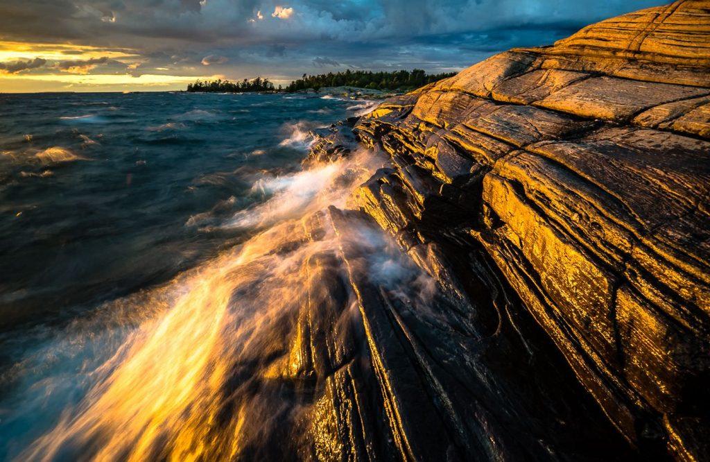 Evening storm on Franklin Island, Ontario