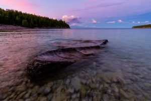 Sunset at Little Cove. Tobermory, Ontario.